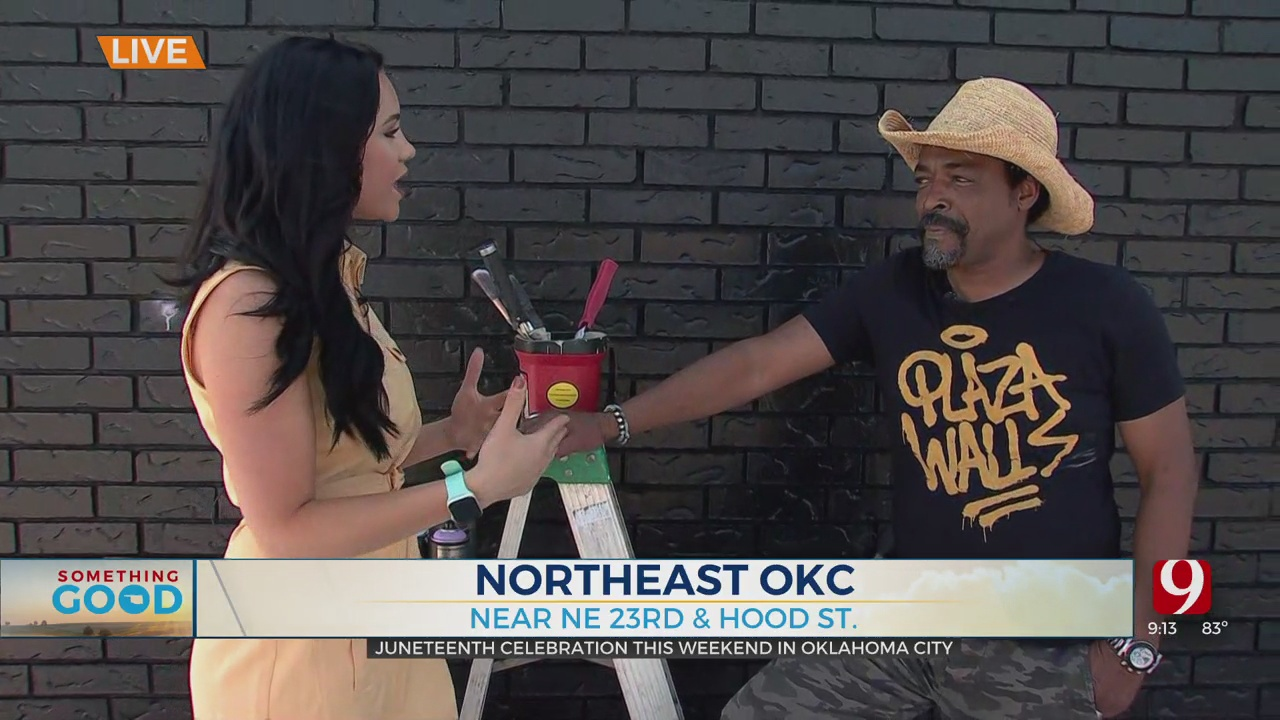 Muralist Speaks With News 9 About OKC's Juneteenth Celebration
