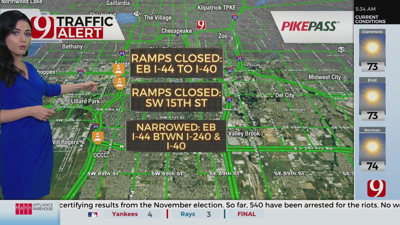 I-44 Eastbound Ramp to I-40 Closed Wednesday