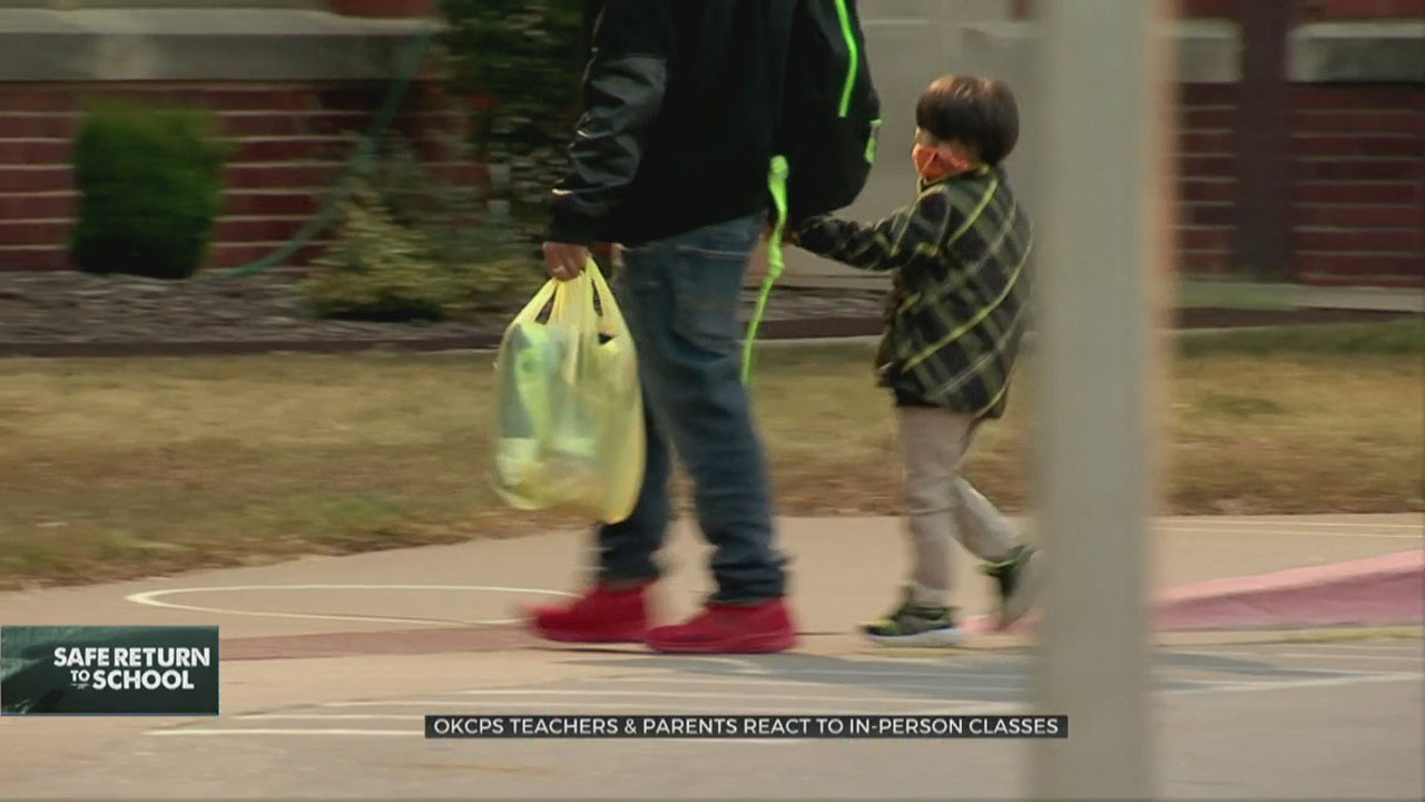 OKCPS Teachers, Parents React To Return Of In-Person Classes