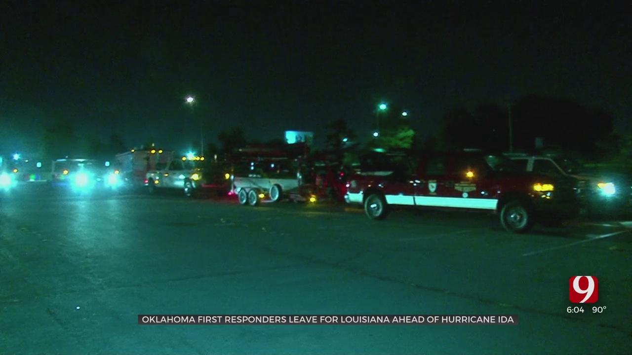 Oklahoma First Reponders Leave For Louisiana Ahead Of Hurricane Ida