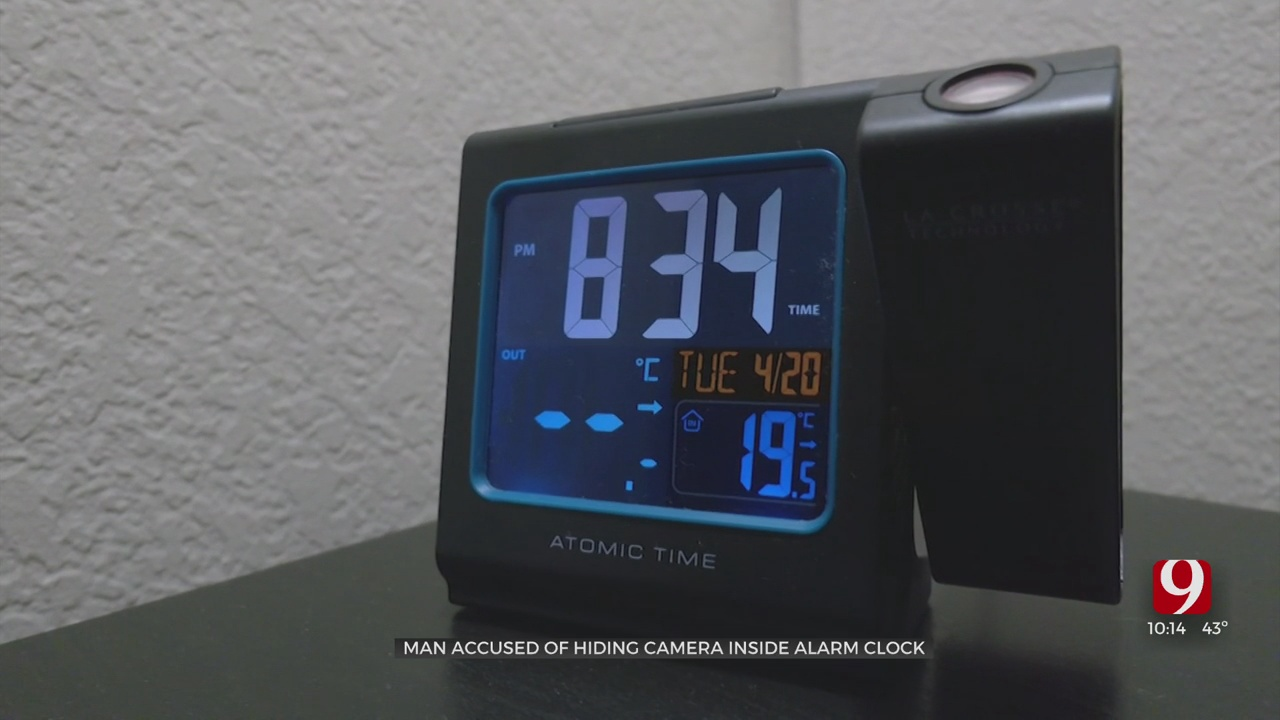 Norman Man Accused Of Placing Camera In Woman's Bedroom Disguised As Alarm Clock