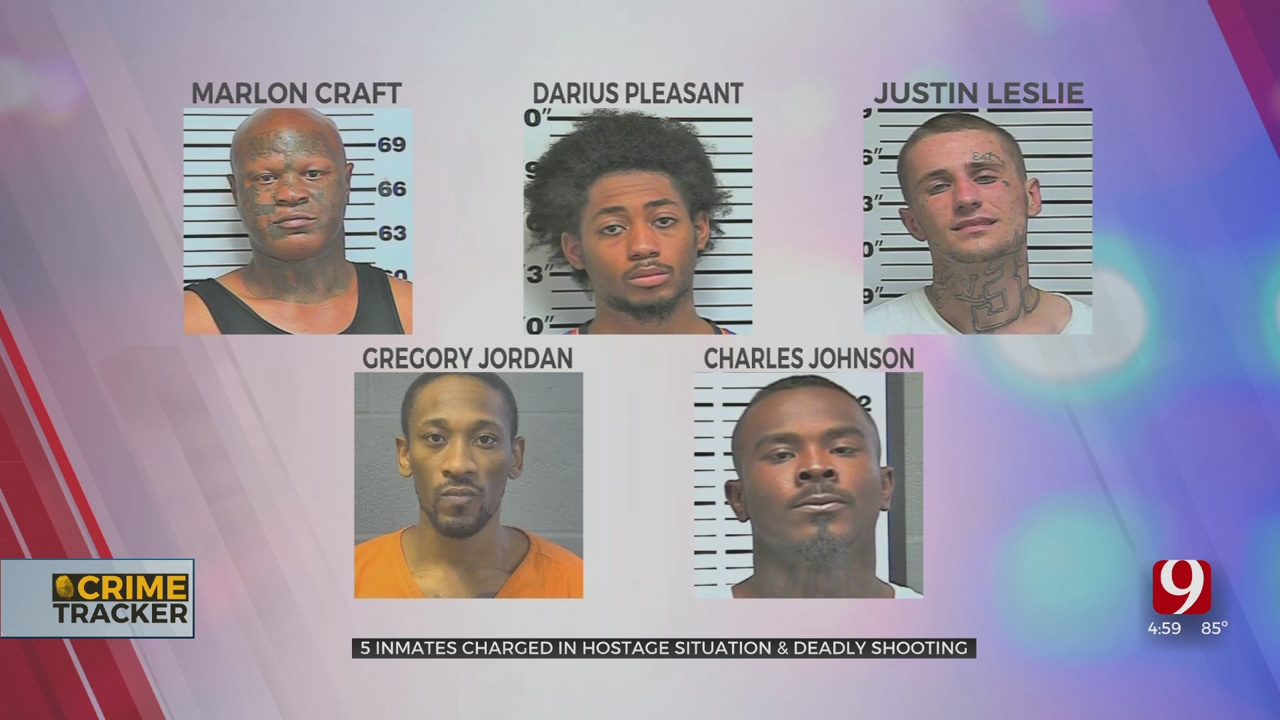 5 Inmates Charged For Alleged Involvement In March Hostage Situation, Killing Of Inmate At Oklahoma Co. Jail