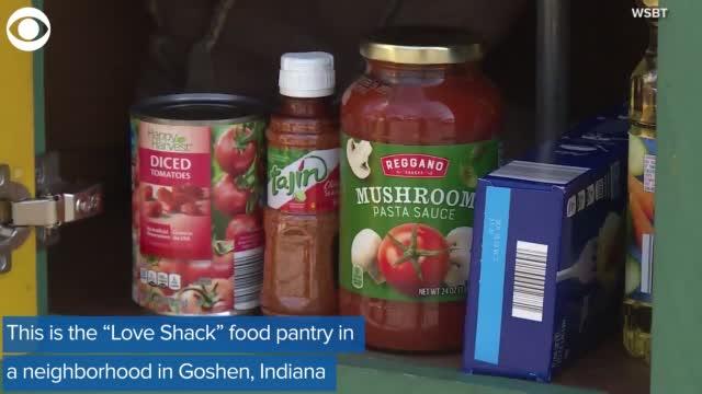 Community Food Pantry In Neighborhood