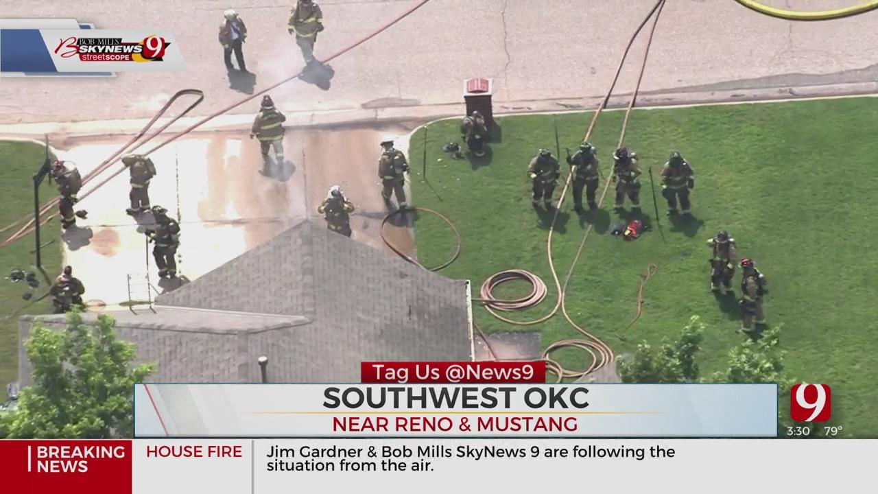 Firefighters Battle House Fire In West OKC