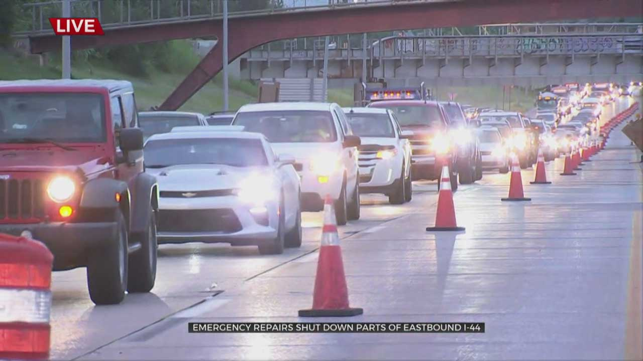 Eastbound I-44 Narrowed To One Lane Near I-40 Due To Emergency Road Repairs