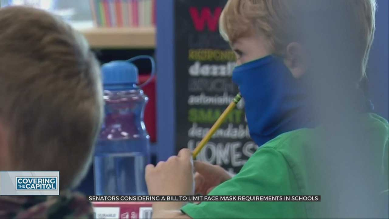 State Senators To Consider Bill To Limit Face Mask Requirements, Other COVID-19 Restrictions In Schools