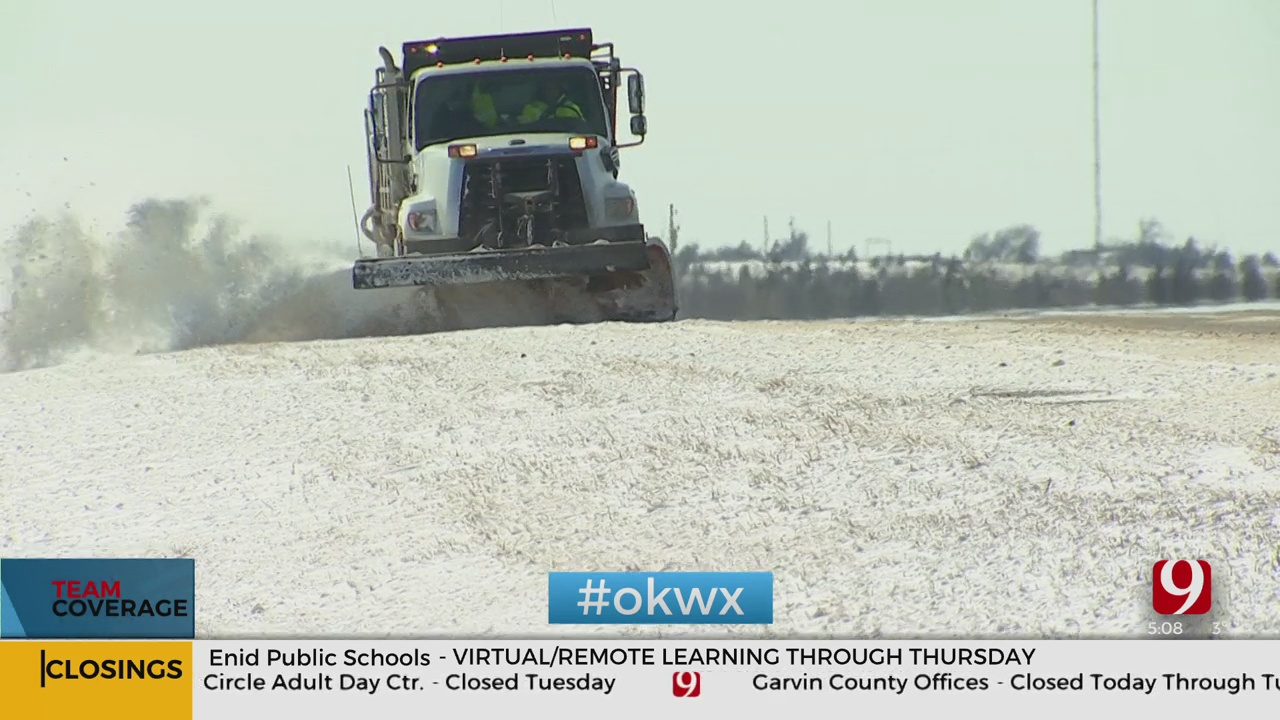 ODOT Crews Work To Stay Ahead Of Another Round Of Snow