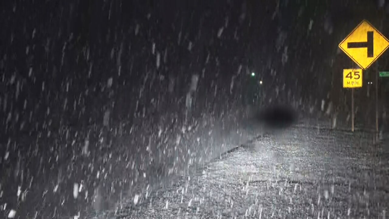 Val And Amy Track Snow Across North Central Oklahoma