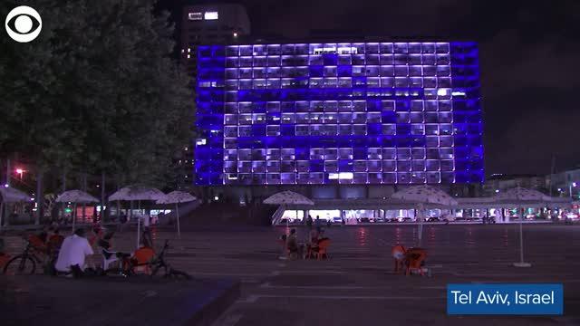 Watch: Tel Aviv City Hall lights Up In Israeli, UAE Flags