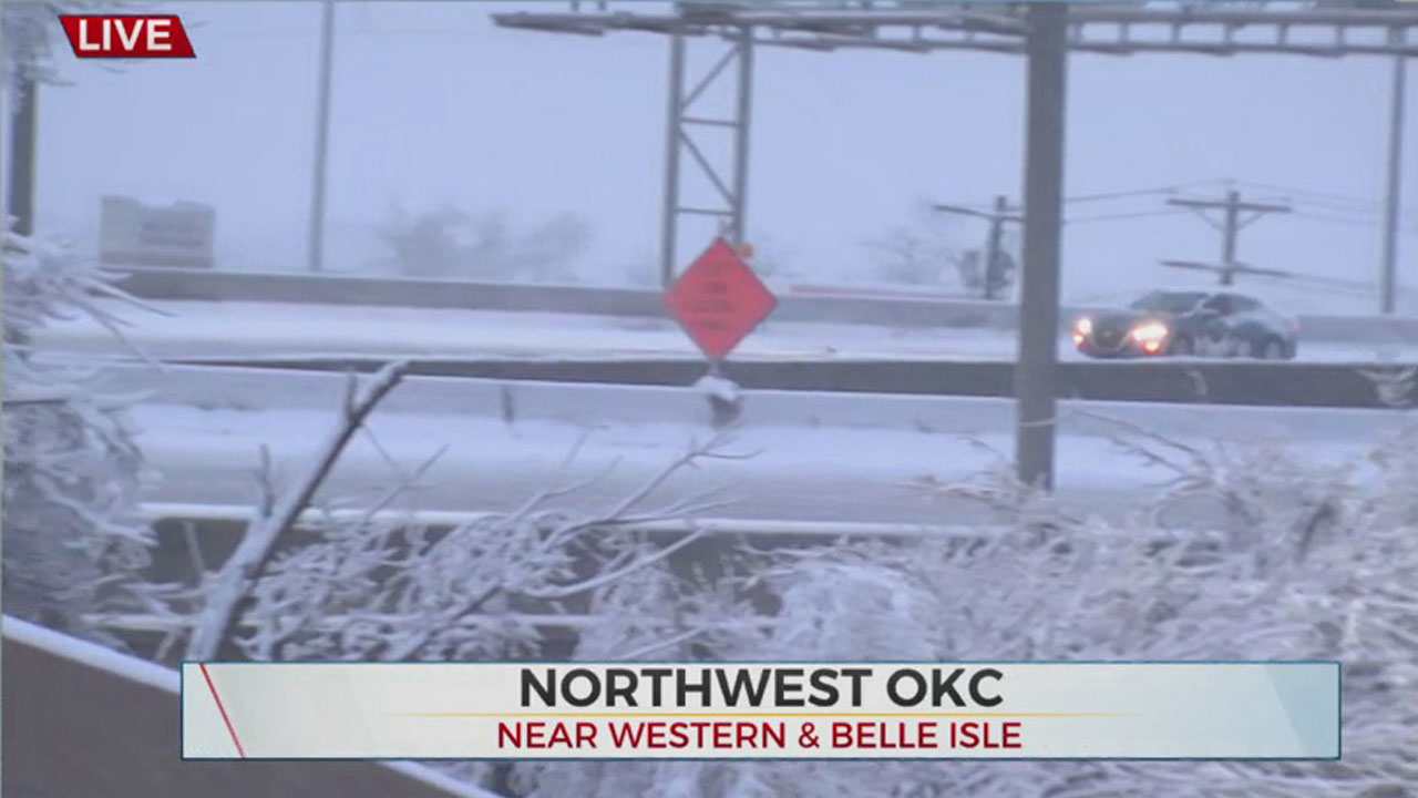 WATCH: Road Conditions Near Belle Isle Bridge