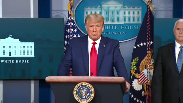 President Trump Speaks To Reporters After Dow Hits 30,000