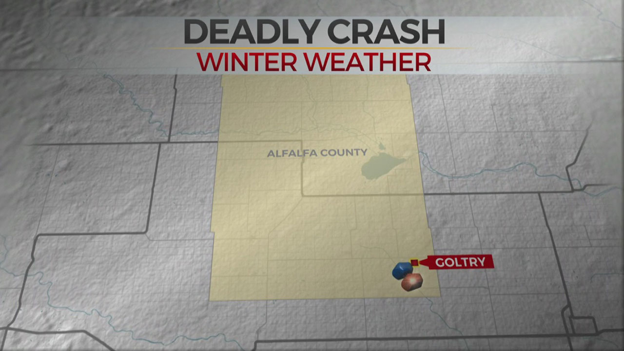 Woman Dies In Alfalfa Co. Crash During Winter Weather