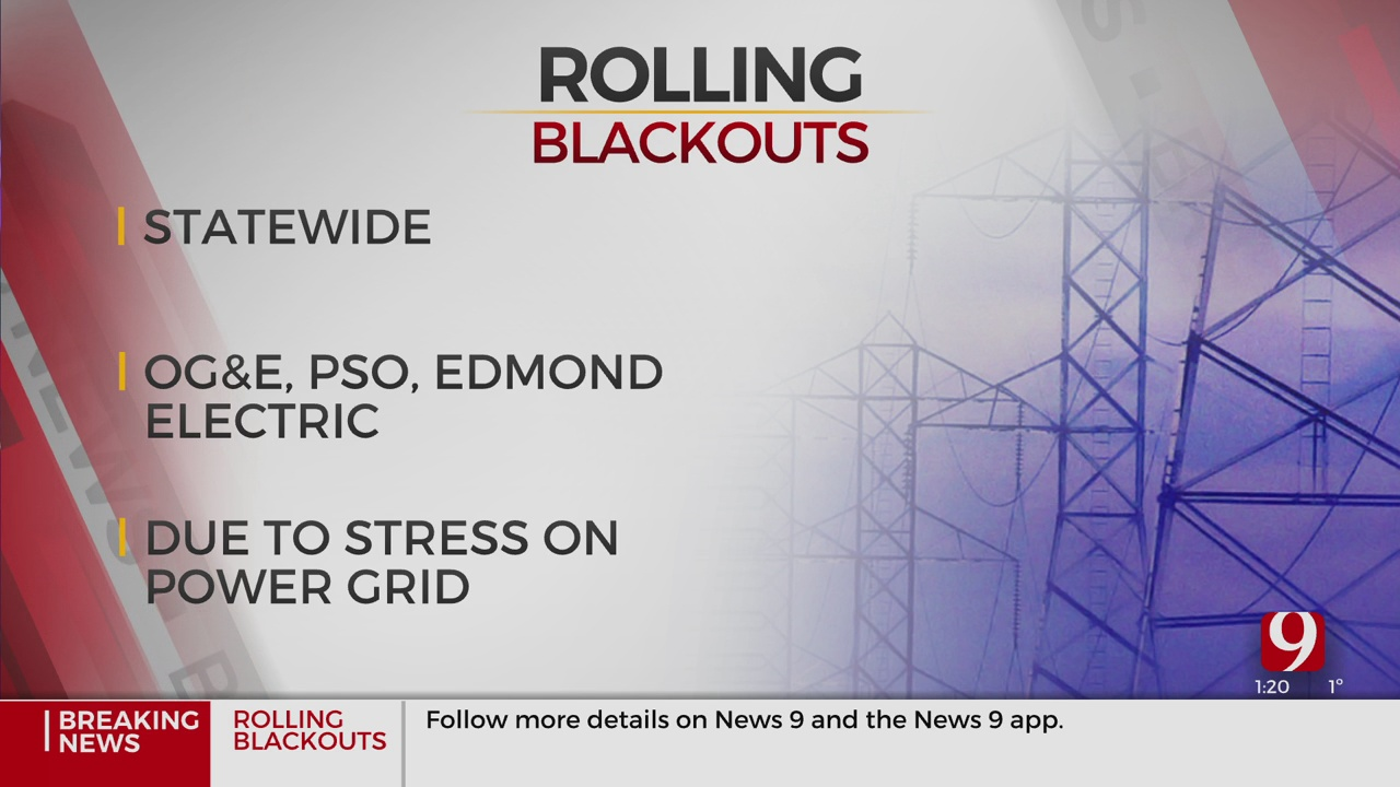 Several Utility Companies Implement Rolling Blackouts In Oklahoma