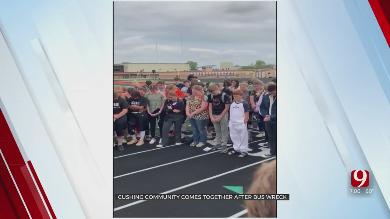 Cushing Community Comes Together After Bus Wreck