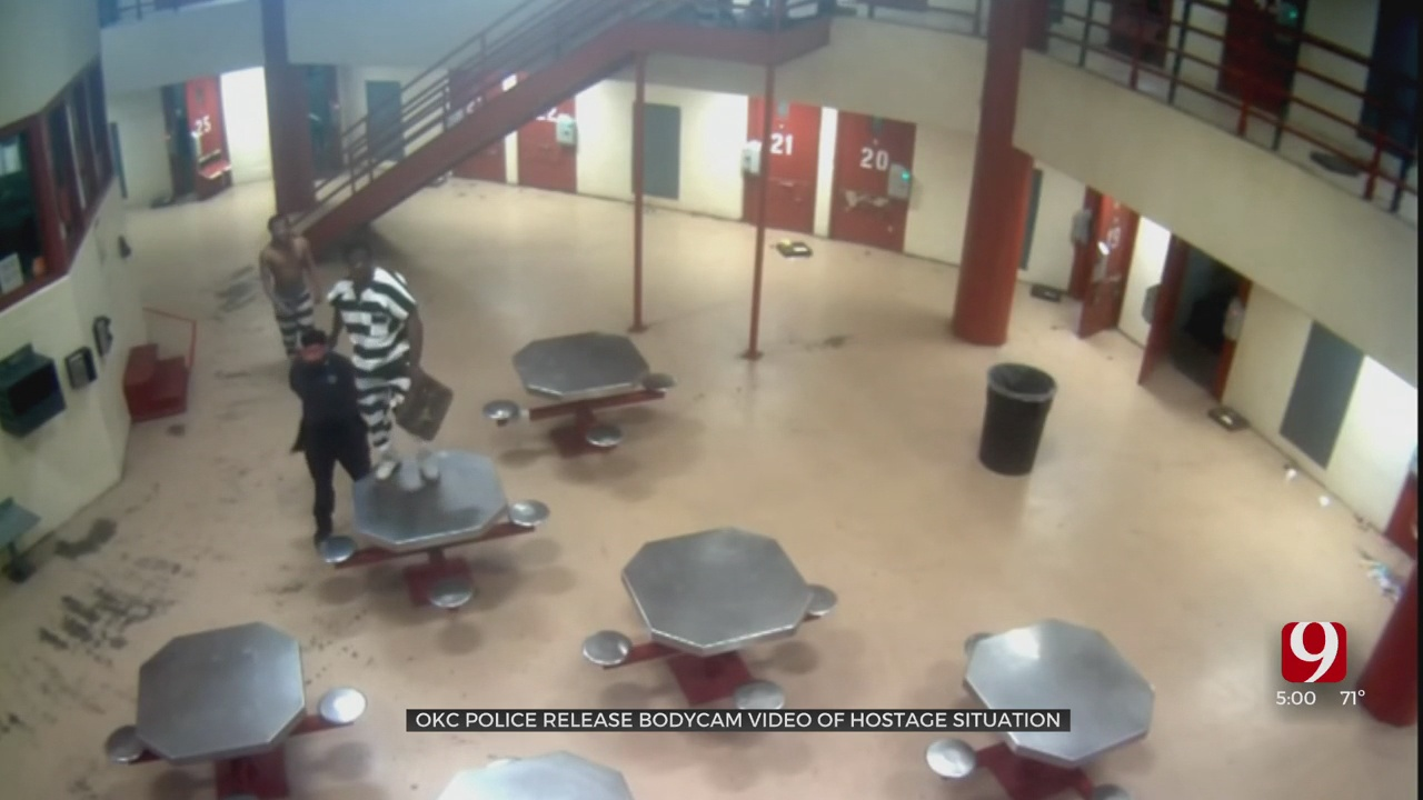 OKC Police Release Jail Surveillance, Body Camera Footage From Saturday's Hostage Situation