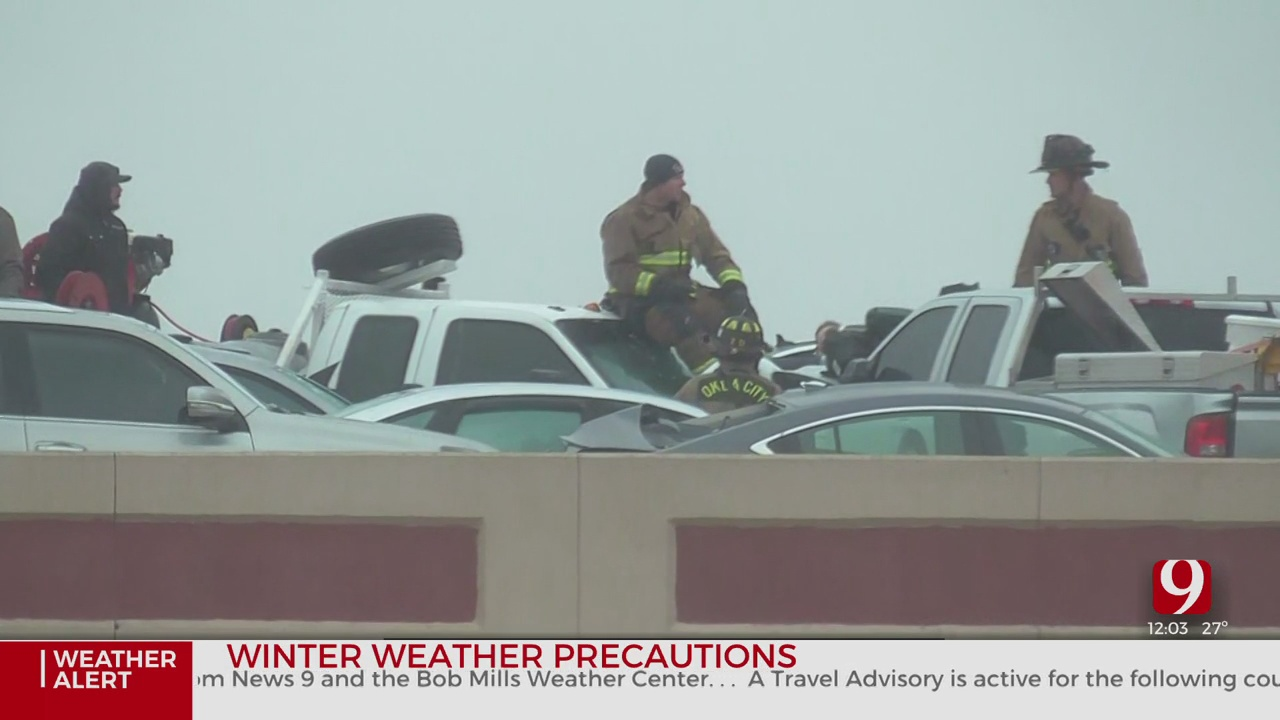 Fire Crews Rescue Motorists From 29-Car Pileup In NW OKC