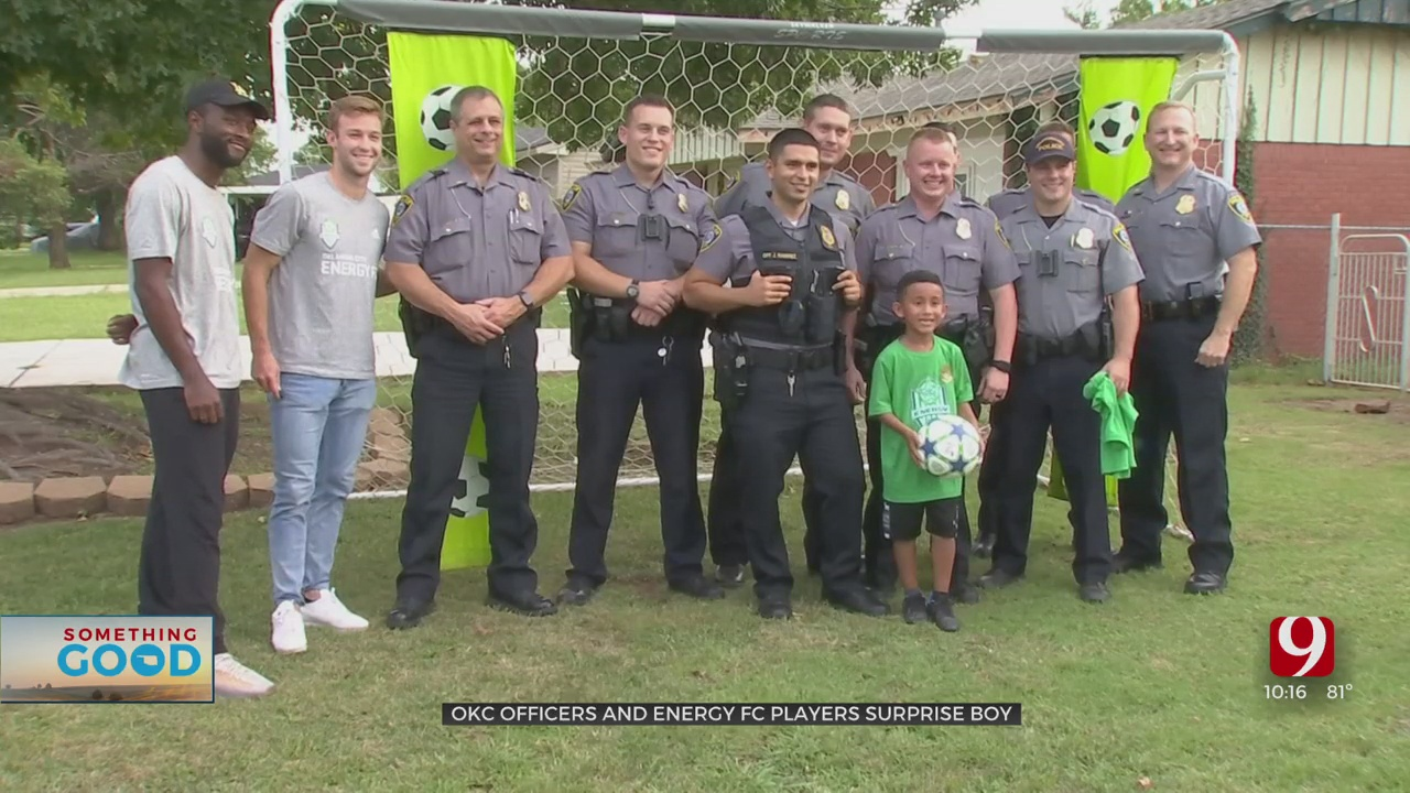 OKC Police & Energy FC Surprise Boy After Responding To Nuisance Call
