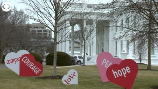 'I Just Wanted Some Joy': First Lady Jill Biden Organizes Valentine's Day Display