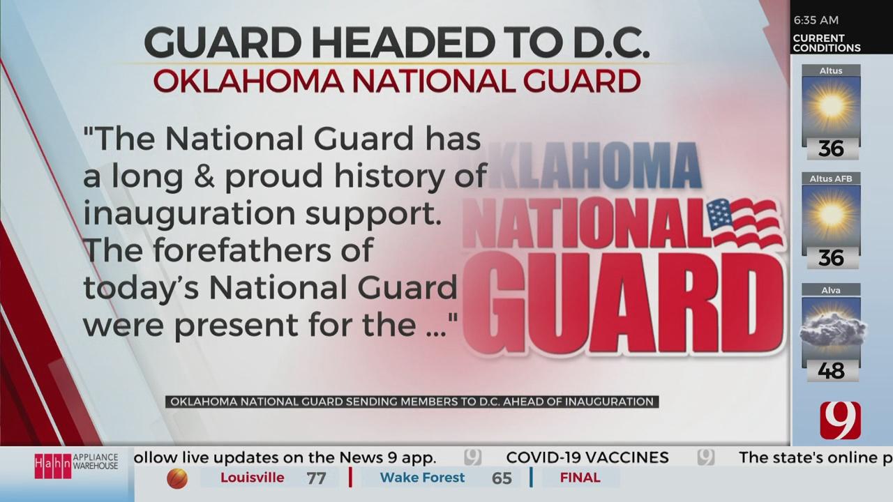 Hundreds Of Oklahoma National Guardsmen Heading To Nation's Capital
