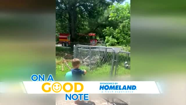 On A Good Note: Norman Firefighters Help A 3-Year-Old Celebrate His Birthday