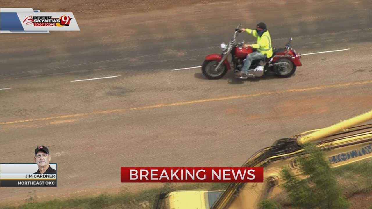 OKC Chase Turns Into Standoff After Motorcyclist Runs Inside Home To Evade Police