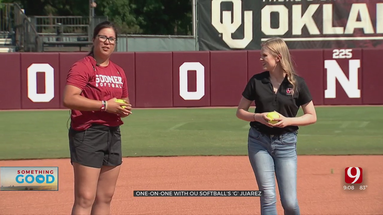 OU's Star Pitcher Gives News 9's Tevis Hillis Pitching Tips