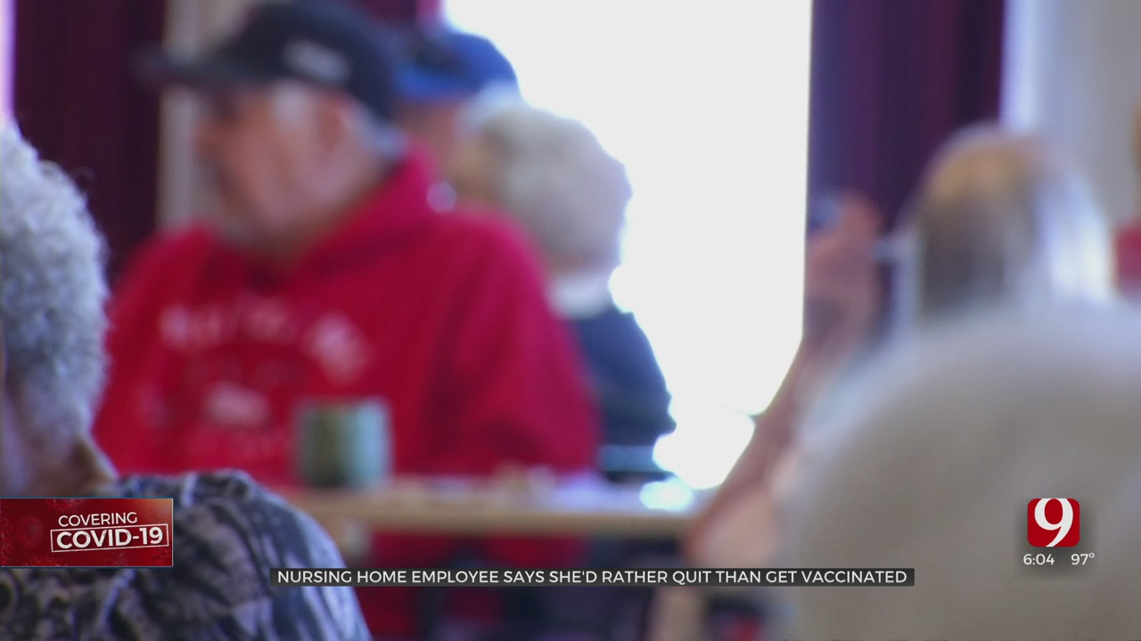 Shawnee Nursing Home Employee Says She's Willing To Quit Over Vaccine Mandate For Long-Term Care Workers