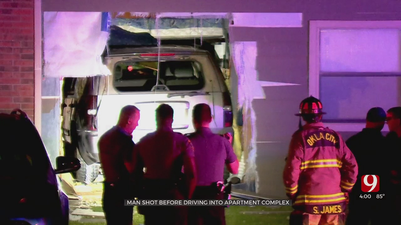 Man Critically Injured After Being Shot, Crashing Into NW OKC Apartment Building