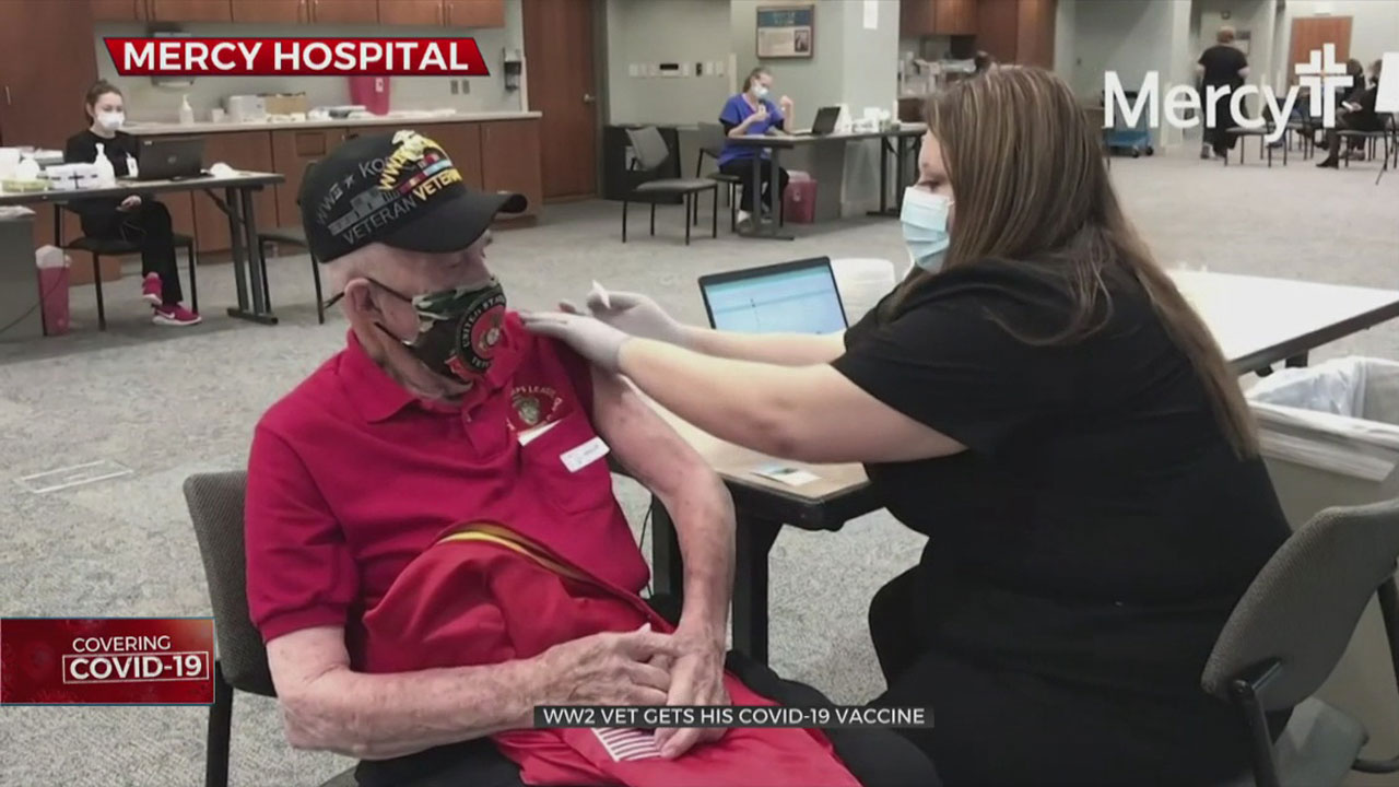 98-Year-Old WWII Veteran Gets COVID-19 Vaccine