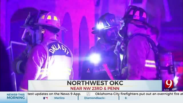 OKC Firefighters Investigate Vacant House Fire