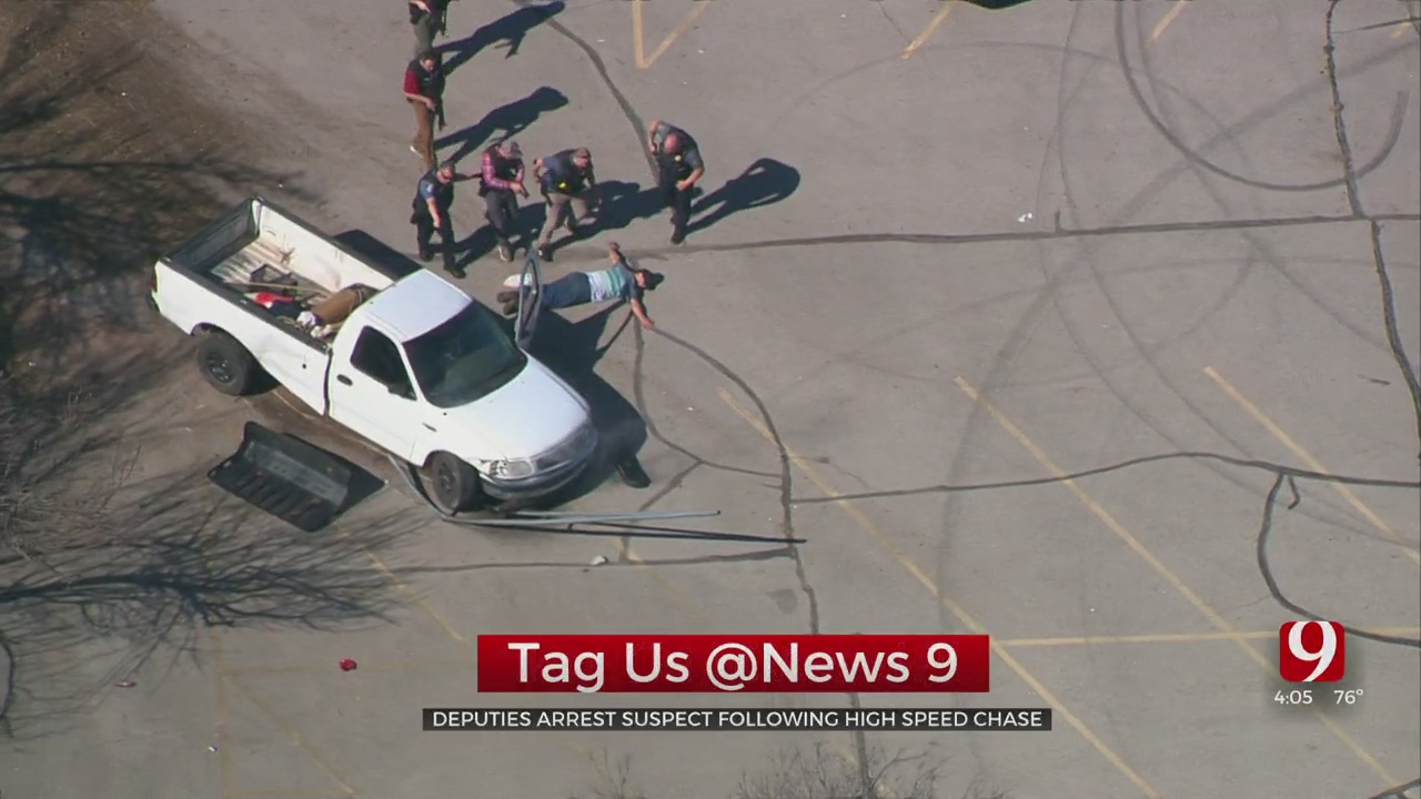 Man Arrested After High-Speed Chase Ends In Crash In NW OKC