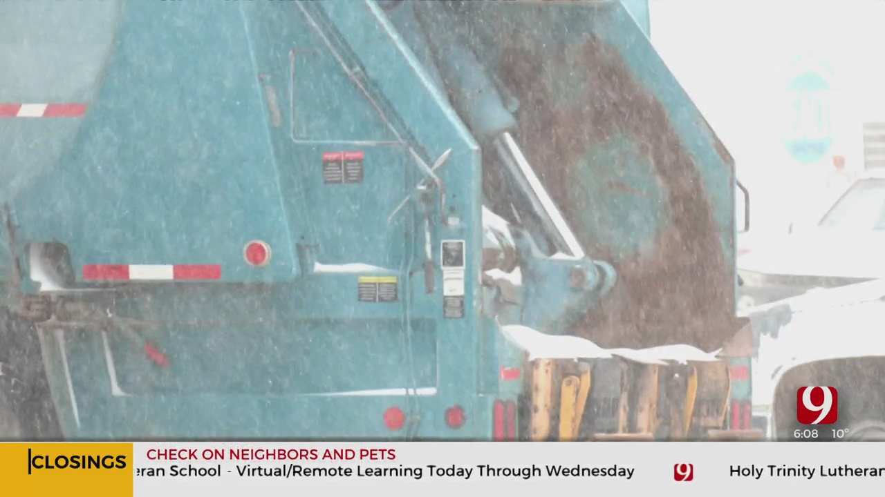 Trash Pick Up In Midwest City Impacted By Ongoing Winter Storm