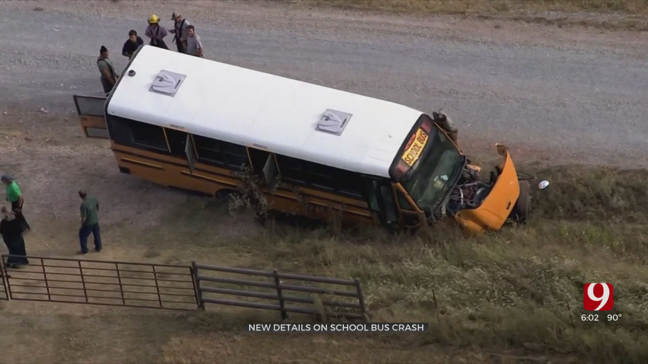 2 Students Recovering After School Bus Crash In Rural Canadian County