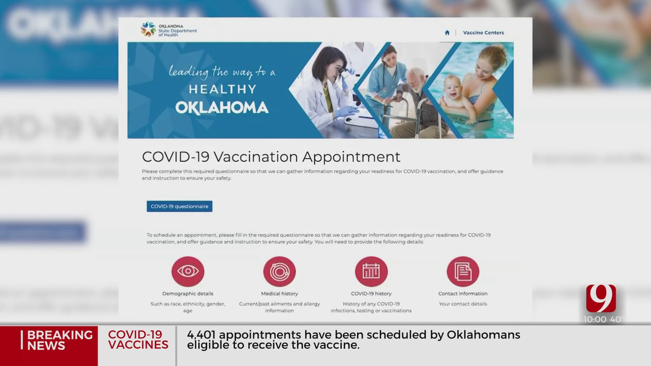 Address Issue With Online Portal Delays Ability To Schedule Vaccine Appointments