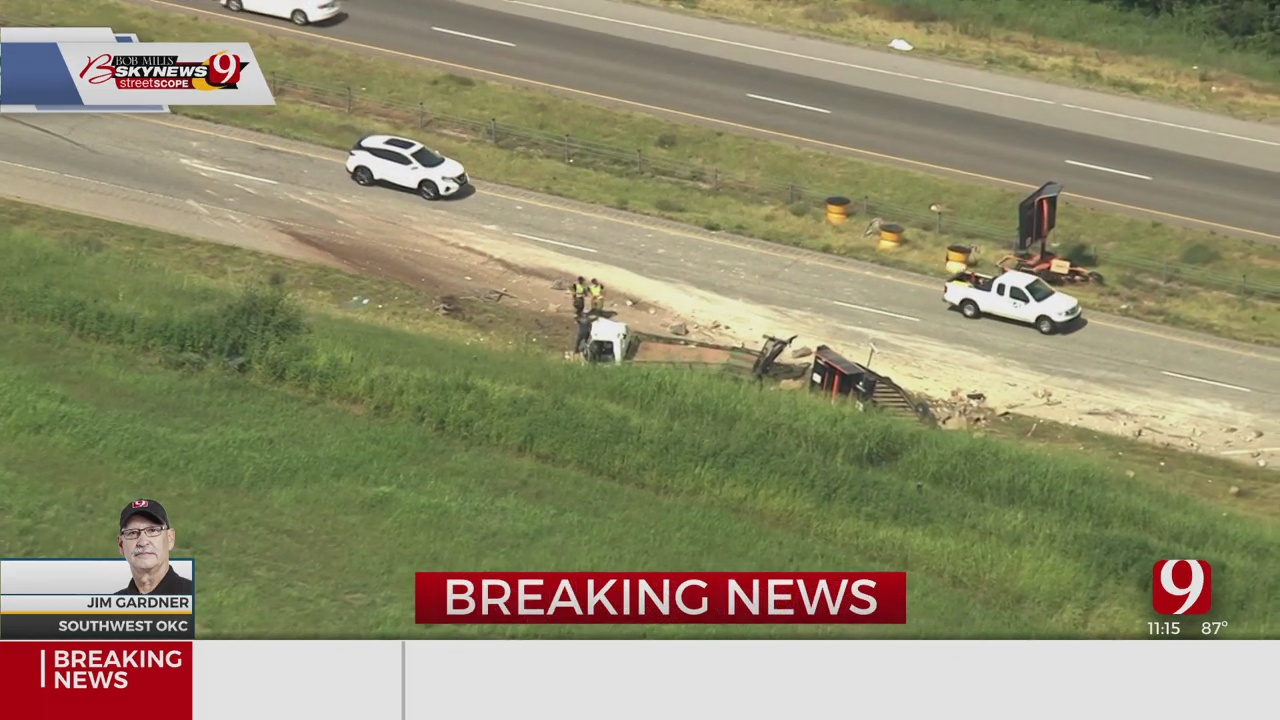 Authorities Respond To Rollover Accident In SW OKC