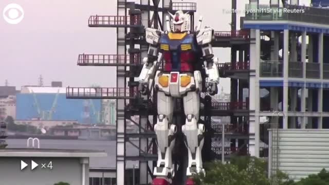 WATCH: 60-Foot Robot Unveiled In Japan