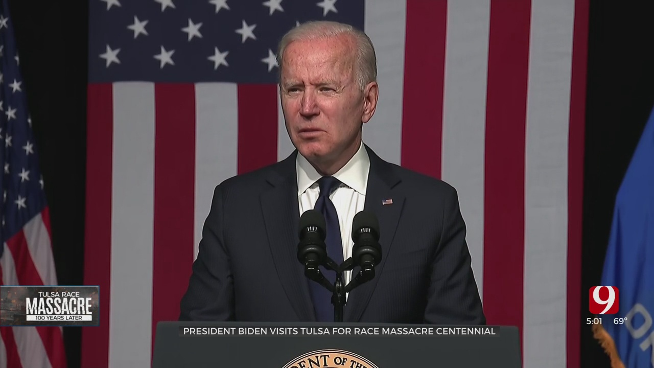 President Biden Delivers Remarks In Tulsa To Commemorate 100th Anniversary Of Race Massacre