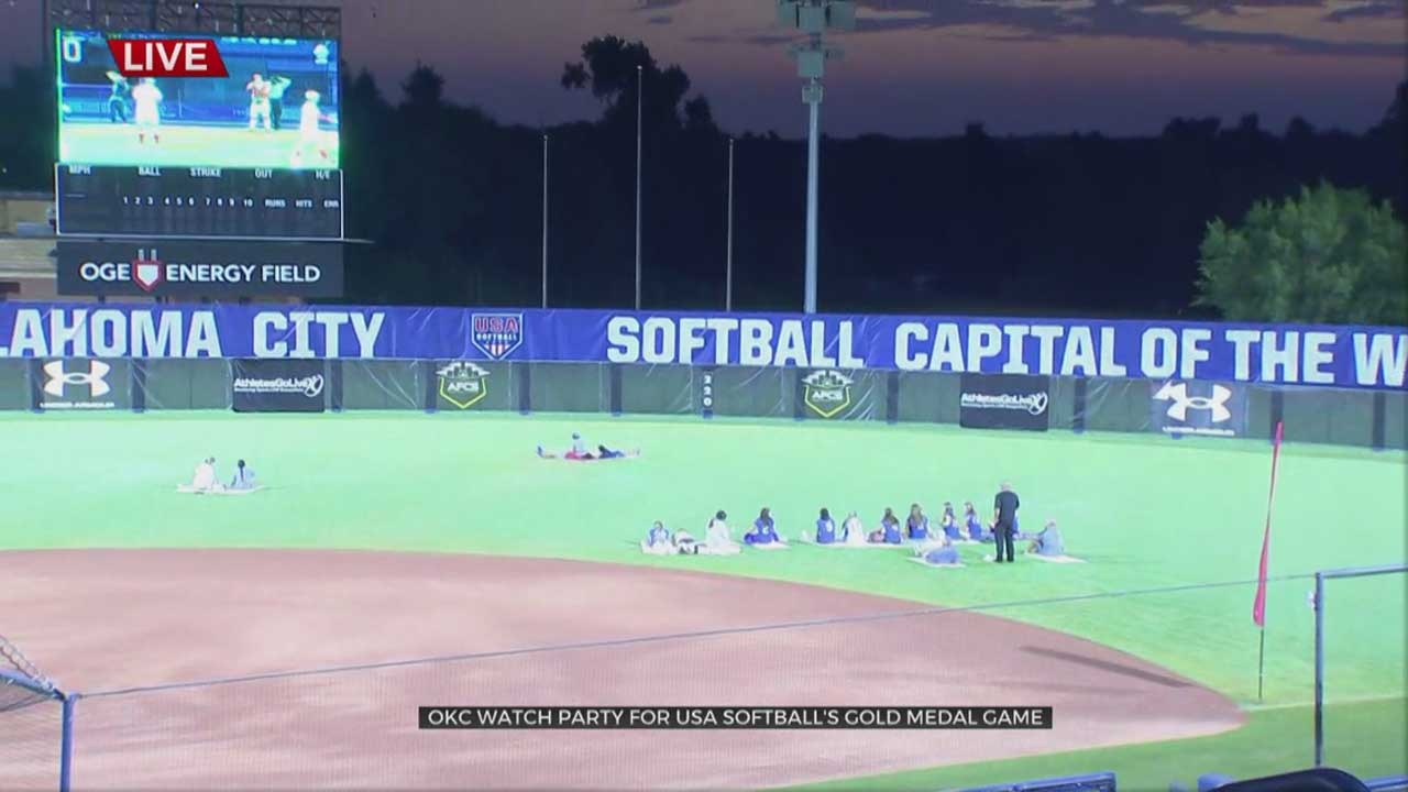 Fans Cheer In OKC For Team USA During Softball's Gold Medal Game At The Tokyo Olympics