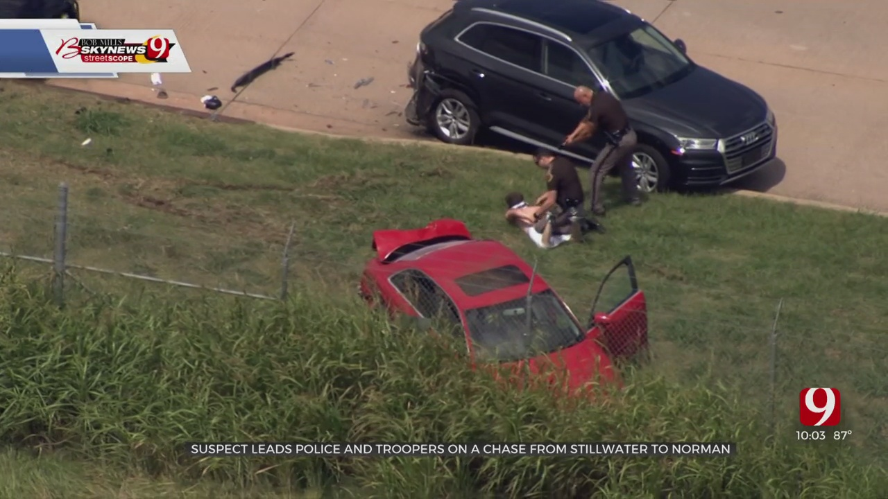 High-Speed Pursuit On SB I-35 Ends In Norman; Suspect In Custody