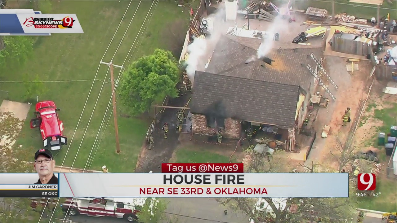 OKCFD Firefighters Put Out House Fire In SE OKC