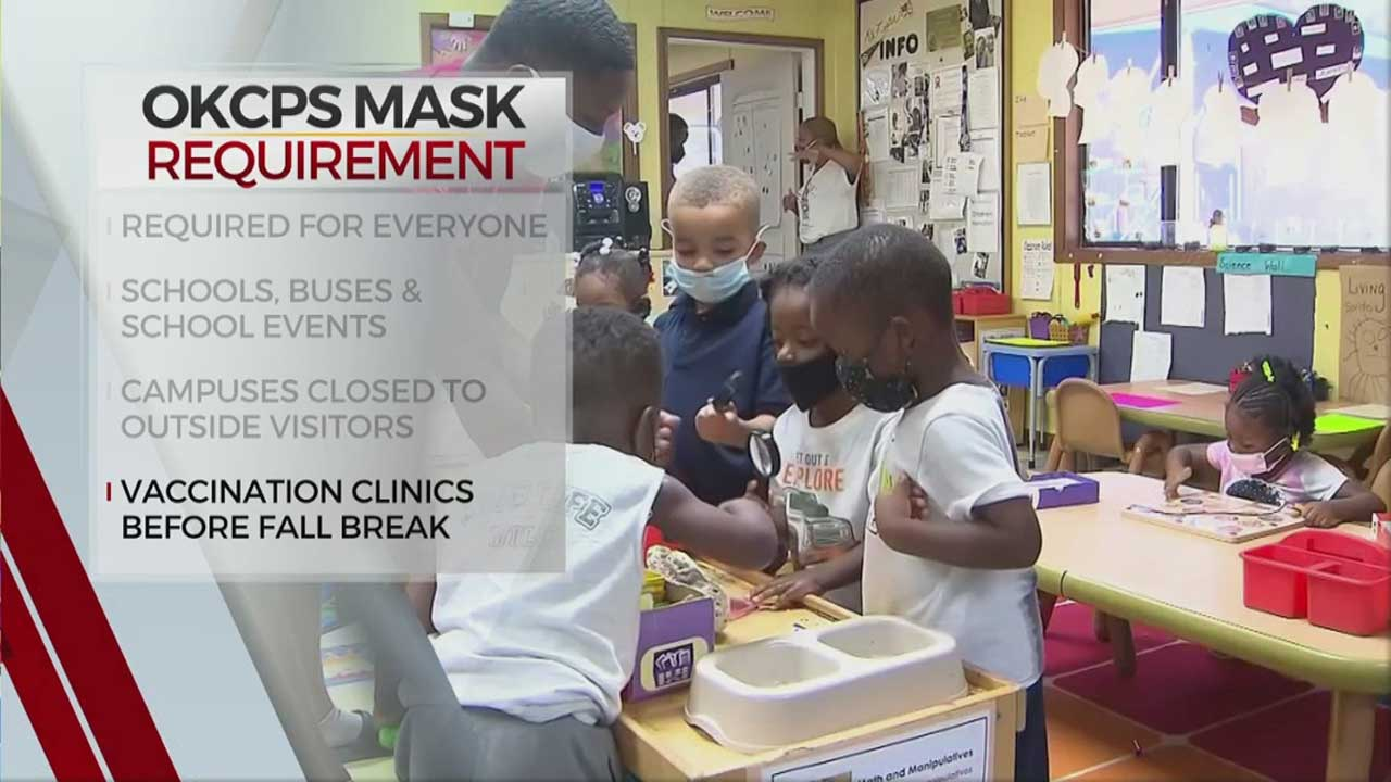 OKCPS Officially Begins Mask Requirement Regardless Of Vaccination Status