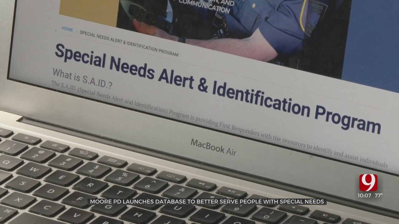 Moore Police Department Unveils New System To Better Assist People With Special Needs