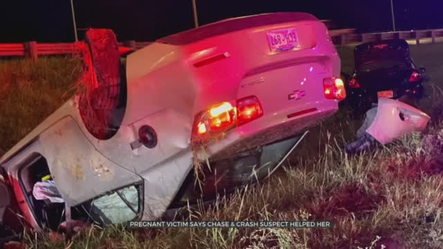 Pregnant Victim Says 19-Year-Old OKC Police Chase Suspect Helped Her Family After Allegedly Causing Rollover Crash