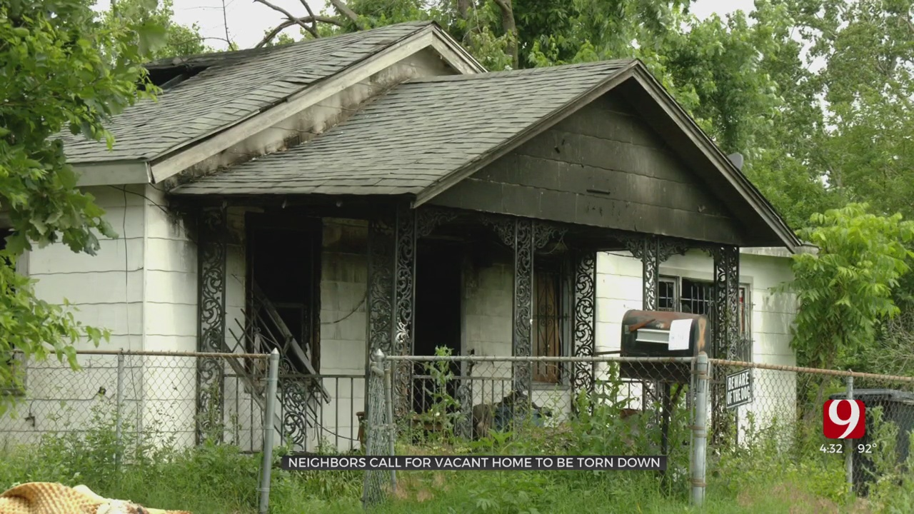 Neighbors Call For SW OKC Vacant Home To Be Torn Down After 3rd Fire There