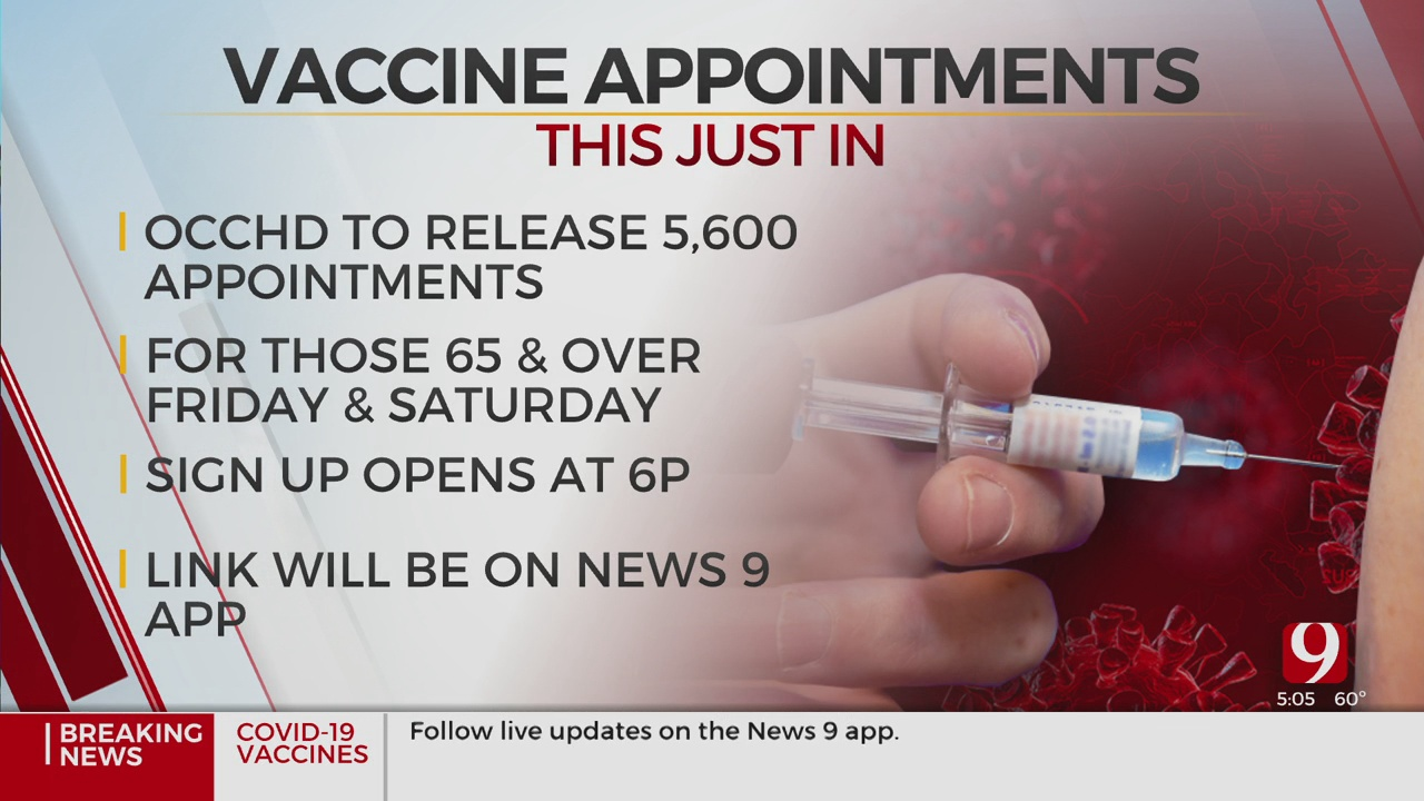 OCCHD To Release 5,600 Vaccination Appointments
