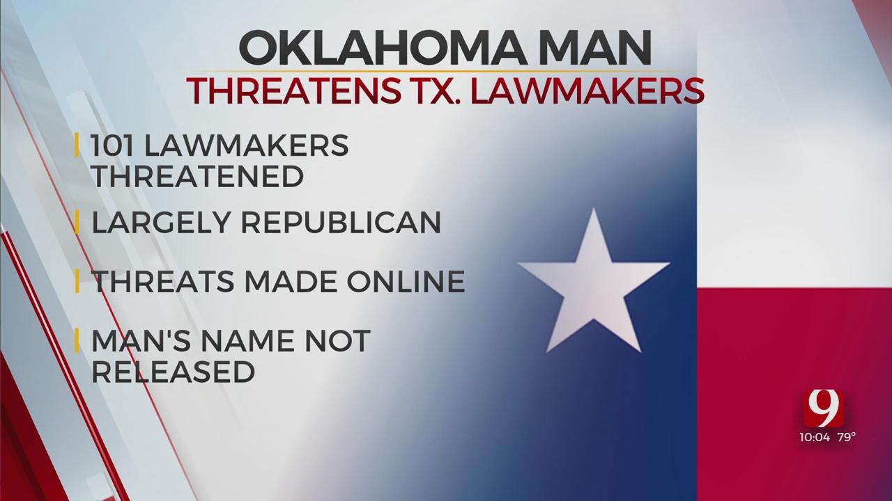 Unnamed Oklahoman Man Threatens Texas Lawmakers Online
