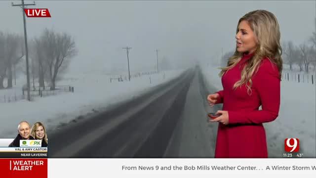 WATCH: Oklahoma Winter Storm Update (11:30 p.m.)