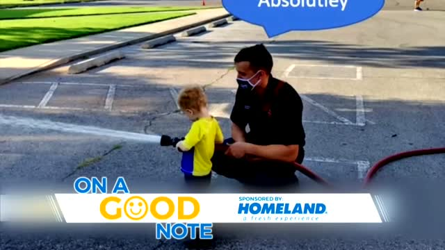 On A Good Note: OCFD Makes Toddler's Weekend