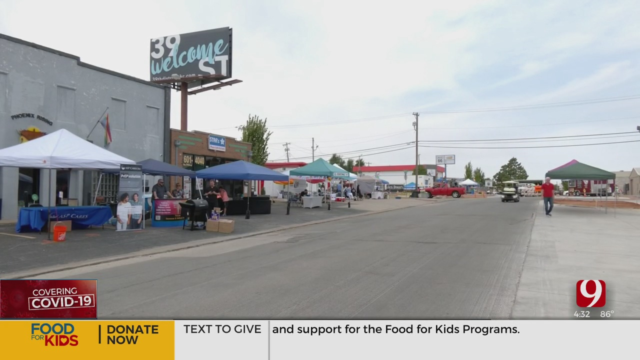 Crews Set Up For Pride On 39th, Todrick Hall Scheduled To Headline