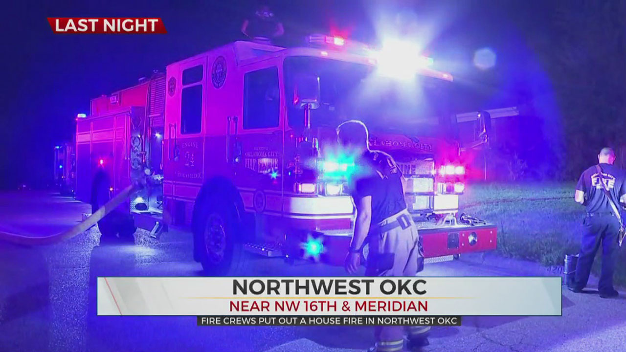 House Fire In NW OKC Displaces One Person